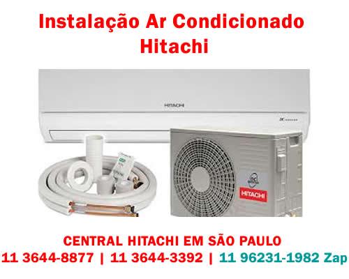 Instalação ar-condicionado Hitachi