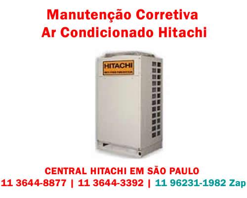 Manutenção corretiva ar-condicionado Hitachi