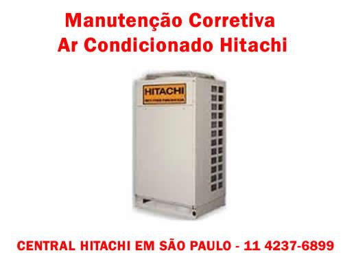 Manutenção corretiva ar condicionado Hitachi