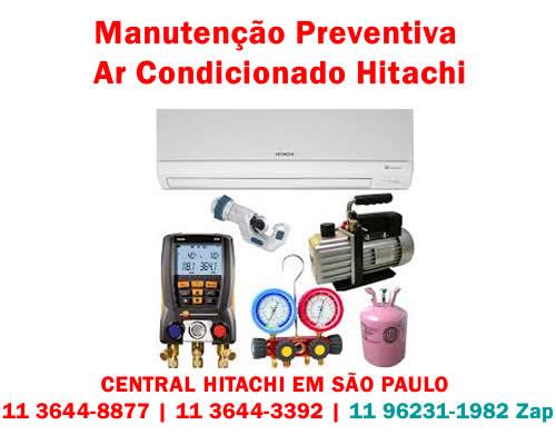 Manutenção preventiva ar-condicionado Hitachi