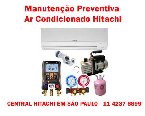 Manutenção preventiva ar condicionado Hitachi